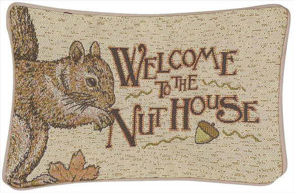 Acorn's Gap Tapestry Word Pillow