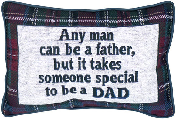 Any Man's Plaid Word Pillow