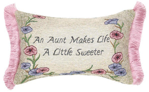 Aunt's Life Tapestry Word Pillow