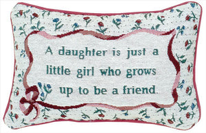 A Daughter's Tapestry Word Pillow