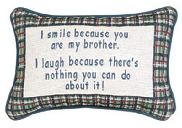 My Brother Tapestry Word Pillow