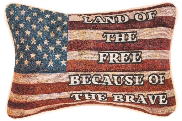 Land Of The Free Tapestry Pillow