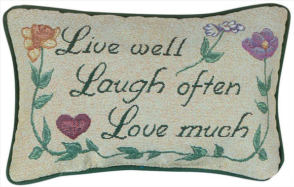 Love Much Tapestry Word Pillow