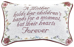 A Mother's Children Tapestry Pillow