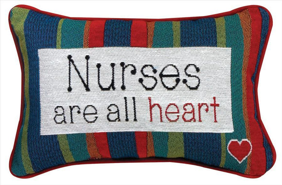 Nurses Are All Heart Tapestry Pillow
