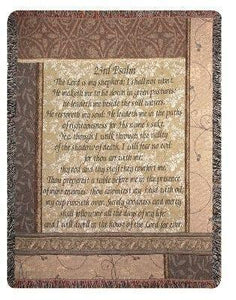 MY SHEPHERD 23rd PSALM TAPESTRY THROW