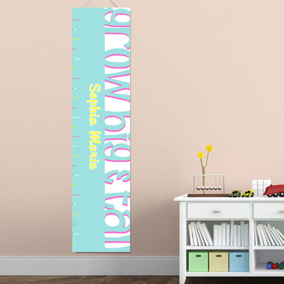Personalized Turquoise Big & Tall Growth Chart