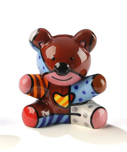 ROMERO BRITTO CERAMIC BEAR SALT & PEPPER SHAKERS