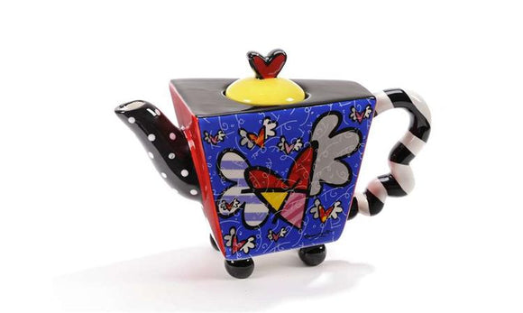 ROMERO BRITTO MINI FLYING HEARTS TEAPOT