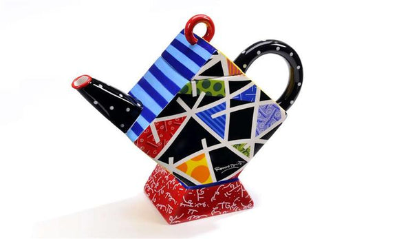 ROMERO BRITTO CERAMIC PATTERN DESIGN TEAPOT