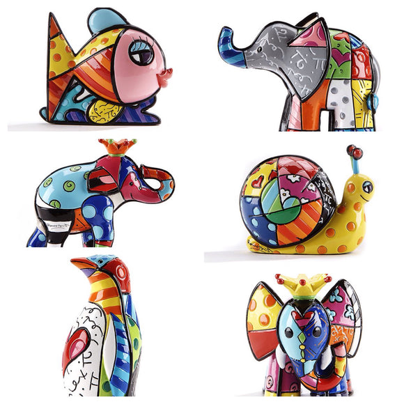 ROMERO BRITTO NEW MINI/MINIATURE SET OF 6
