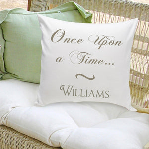 "Personalized ""Once Upon A Time"" Classic Throw Pillow"