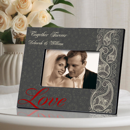 Personalized Passionate Paisley Picture Frame