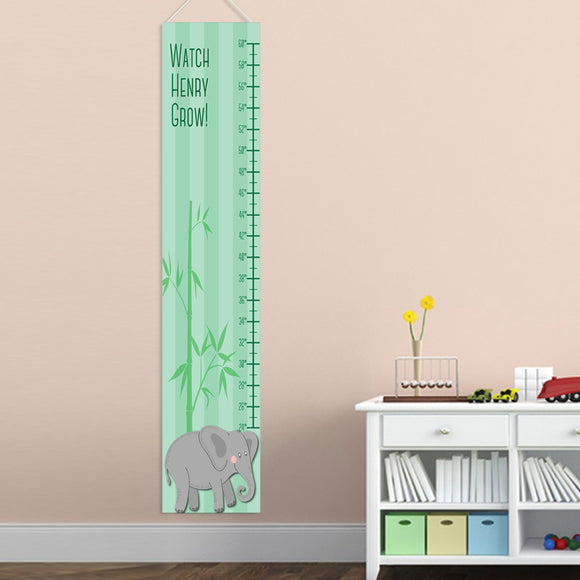 Personalized Elephant Boy Growth Chart