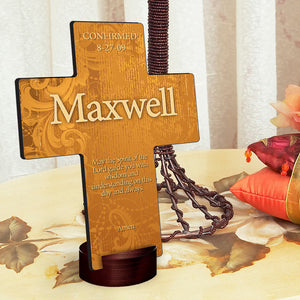 "Personalized ""Gardens of Grace"" Cross with Stand"