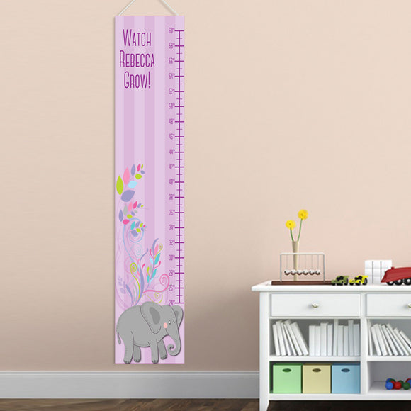 Personalized Elephant Girl Growth Chart