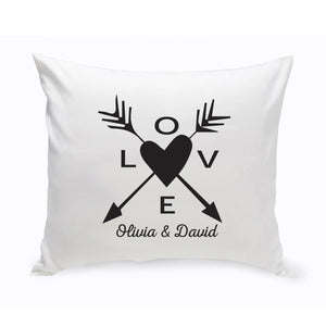 "Personalized ""Love Arrow"" Throw Pillow"