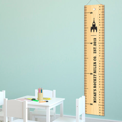 Personalized Rocket Ruler Growth Chart