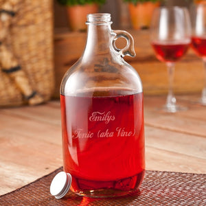 Personalized Wine Jug