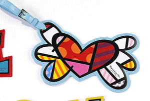 ROMERO BRITTO FLYING HEART LUGGAGE/BACKPACK ID TAG