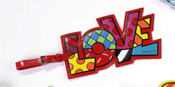 ROMERO BRITTO LOVE LUGGAGE/BACKPACK ID TAG