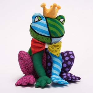 Romero Britto Plush Frederic The Frog Prince With Crown