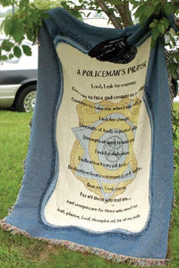 A Policeman's Prayer Tapestry Throw