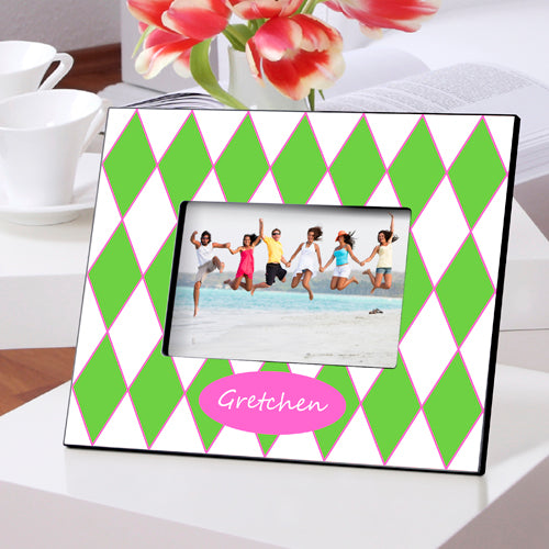 Personalized Preppy Gems Picture Frame