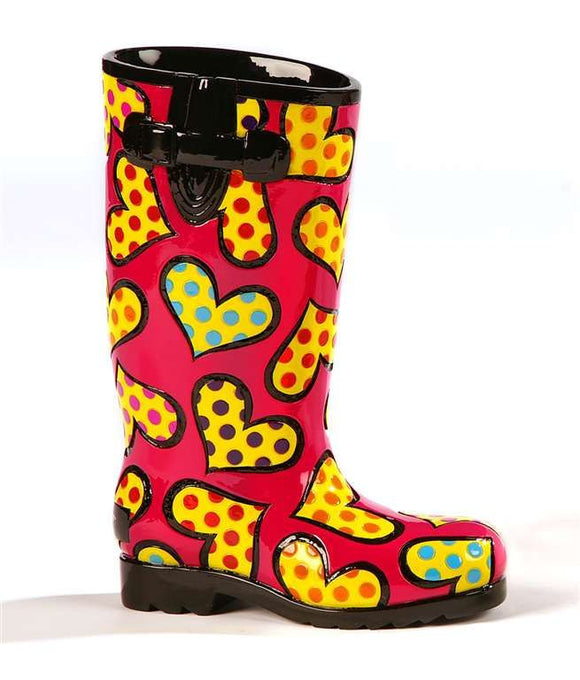 ROMERO BRITTO RAIN BOOT SHOE FIGURINE