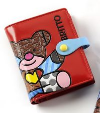 ROMERO BRITTO PASSPORT COVER RED WITH TEDDY BEAR