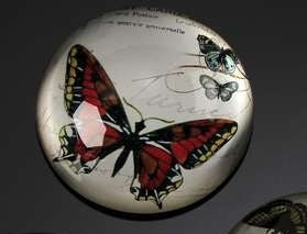 BOTANICAL RED BUTTERFLY PAPERWEIGHT
