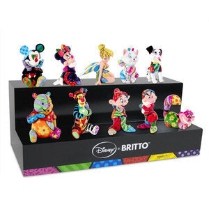 DISNEY BY BRITTO COMPLETE SET OF 10 DISNEY MINI'S WITH DISPLAY