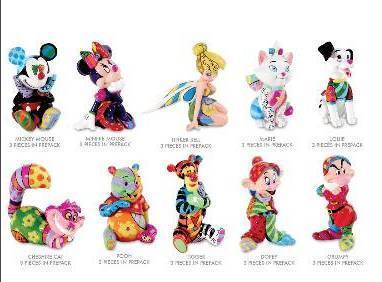 DISNEY BY BRITTO COMPLETE 1st EDITION SET OF 10 DISNEY MINI FIGURINES
