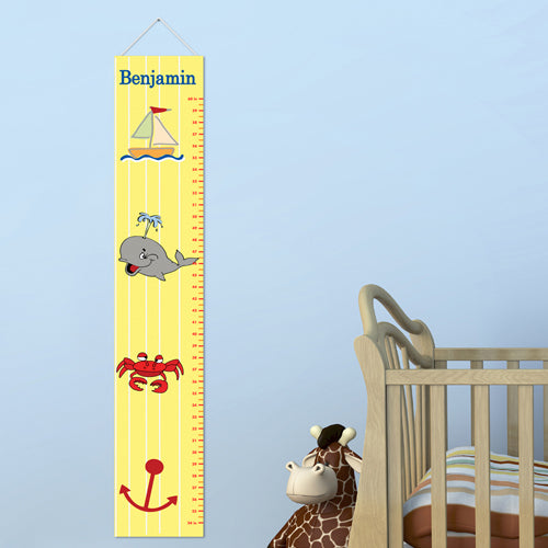 Personalized Ship Shape Growth Chart