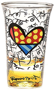 Romero Britto Shot Glass- Yellow