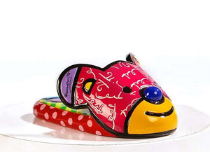 ROMERO BRITTO TEDDY BEAR SLIPPER SHOE FIGURINE