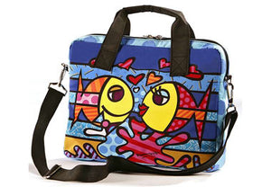 "ROMERO BRITTO MEDIUM ""DEEPLY IN LOVE"" FISH LAPTOP CARRYING CASE"