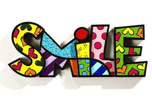 "ROMERO BRITTO ""SMILE"" WORD ART"