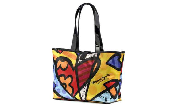 Romero Britto Hearts Large Wide Tote