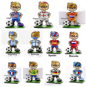 ROMERO BRITTO COMPLETE COLLECTION OF WORLD CUP MINIATURE SOCCER PLAYER FIGURINES- SET OF 10
