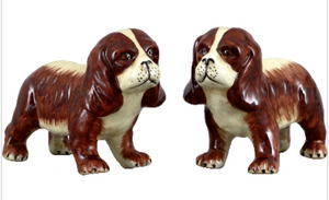 Staffordshire Reproduction Dog Pair Figurines Set of 2