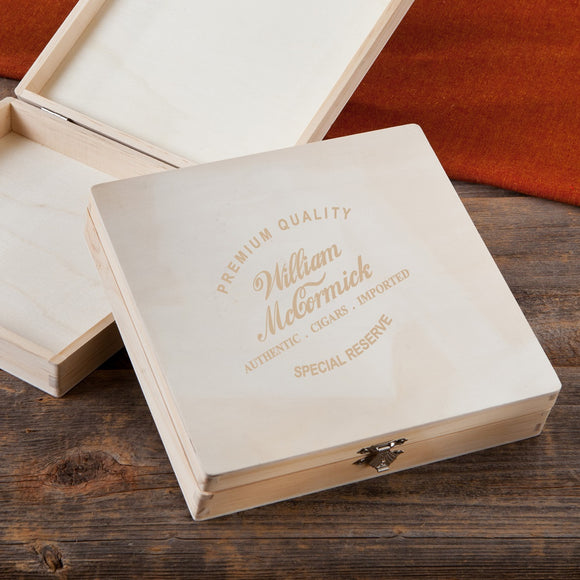 Wooden Keepsake or Cigar Box With Special Reserve Design