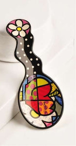 ROMERO BRITTO CERAMIC SPOON REST WITH APPLE DESIGN