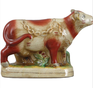 Staffordshire Reproduction Cow Figurine