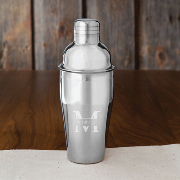 Personalized Cocktail Shaker With Stamped Design