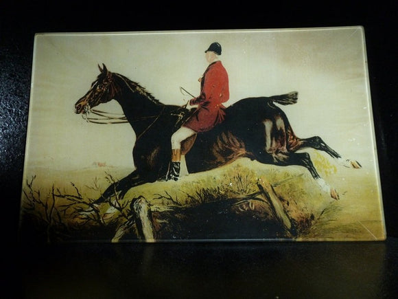 The Hunter Fox Hunting Scene Decoupage Tray