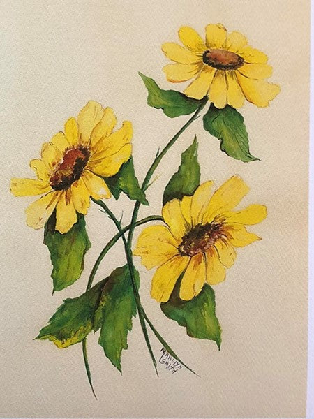 "Limited Edition Numbered Painting Print ""The Sunflowers"""