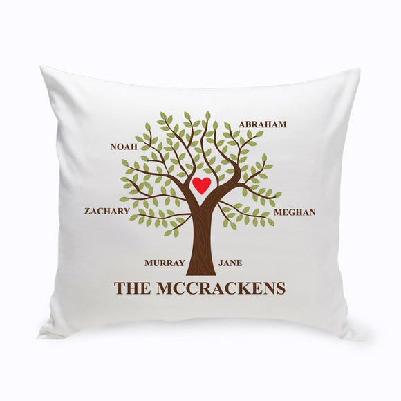 Personalized Traditional Family Tree Throw Pillow