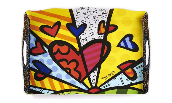 ROMERO BRITTO LARGE RECTANGULAR MELAMINE TRAY- NEW DAY DESIGN