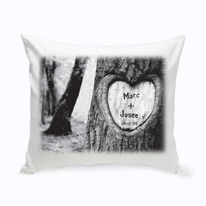 "Personalized ""Tree of Love"" Throw Pillow"